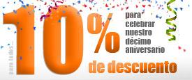 10% de descuento en todos los proyectos por nuestro 10º Aniversario
